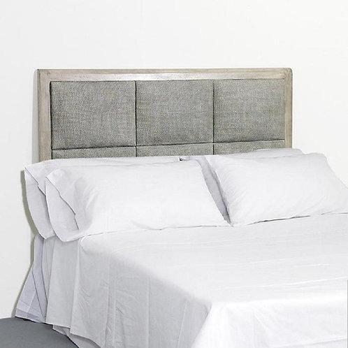 Selena Headboard/Dbl - Grey Veiled Rattan/Wood