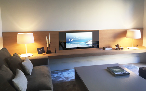 Custom Shelving with incorporated multi-media