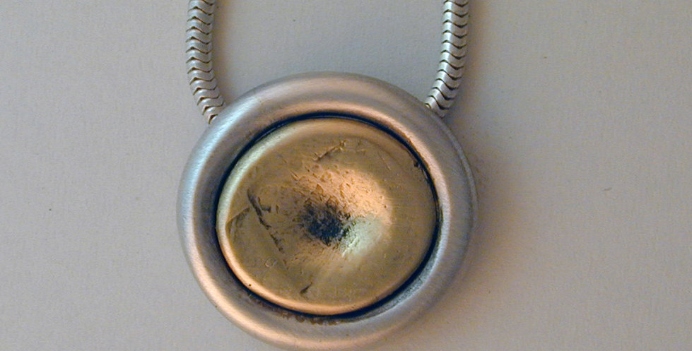 "Signature mixed metal ""Coin"" pendant"