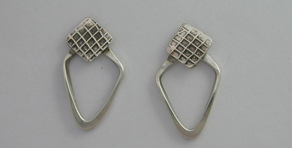 sterling triangle earring