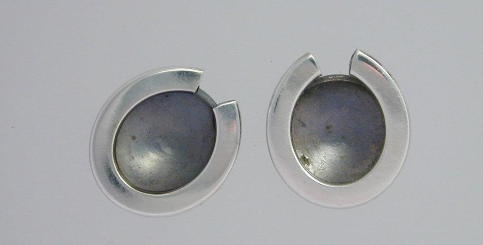 Earrings_concave egg_sterling