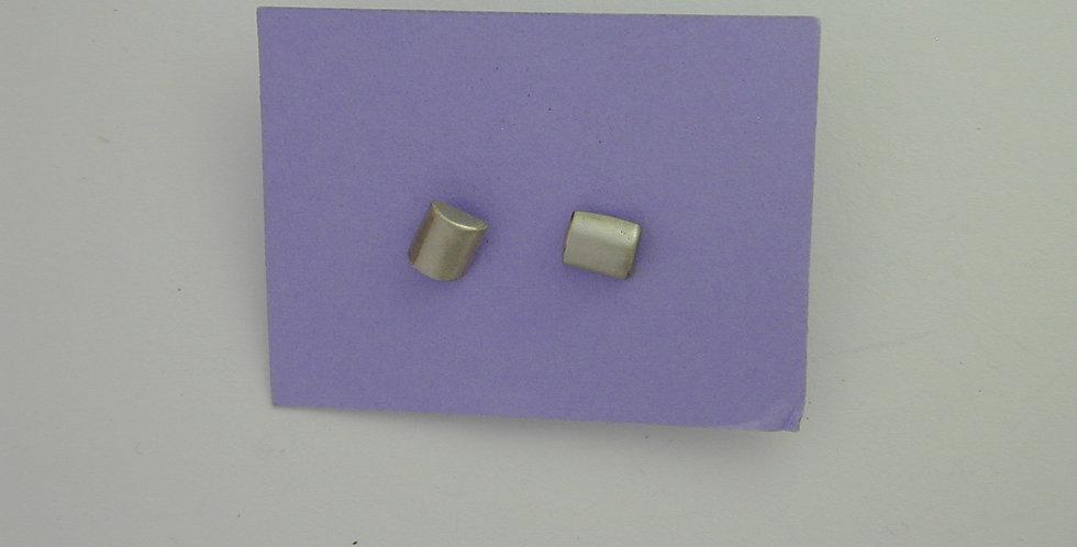 half round post earring