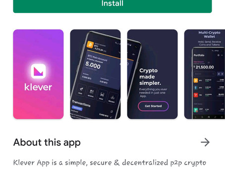 How to install klever Wallet
