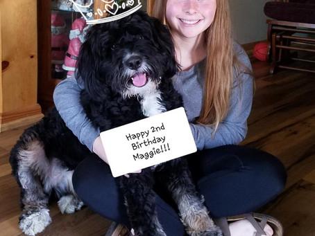 Celebrating Maggie's big day