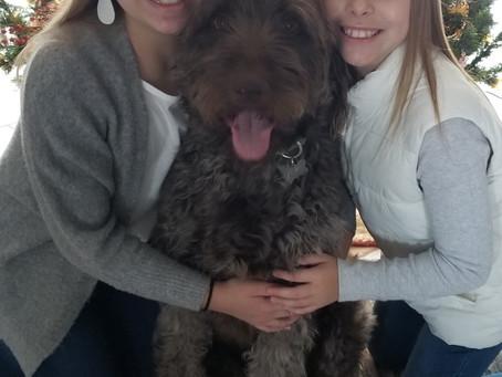 Zeke and human family Christmas pic❤️❤️