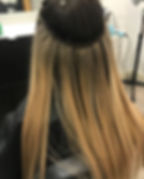"""18"""" hand tied extensions. Swipe 👉🏼 to"""