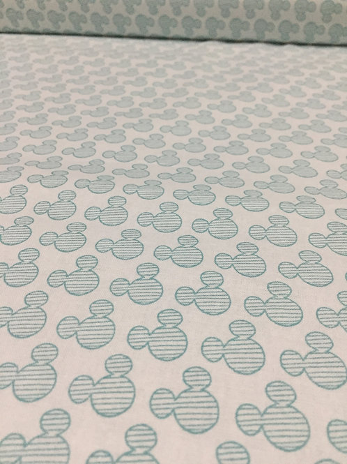 Mickey Mouse fabric, 100% cotton with teal detail