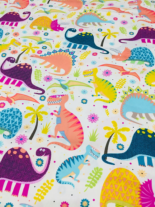 Dinosaur print 2 100% cotton fabric