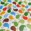 Thumbnail: Cotton Bird Fabric, Bird Fabric, Cotton Fabric, Bright Bird Fabric, Quilting
