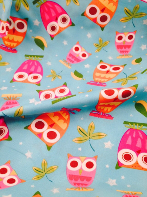 Owl Cotton Fabric, Robert Kaufman Cotton Fabric, 'On A Whim' Fabric, Owl Fabric,