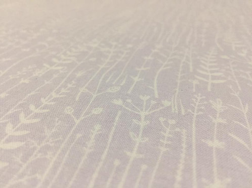 Lilac Meadow Fabric, 100% Cotton Floral pattern, Soft Cotton Fabric