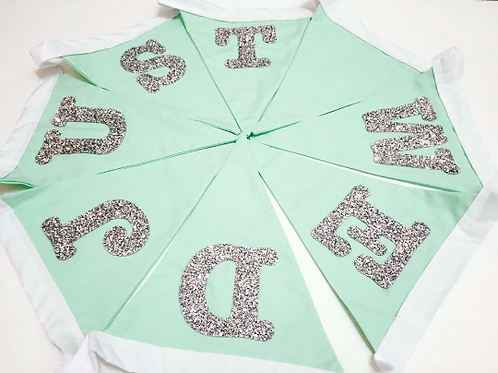 Glitter Bunting, Wedding Bunting, Celebration Bunting, Wedding Decoration