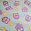 Thumbnail: Cotton Owl Fabric | Owl Fabric | Pastel Blue Fabric | Nursery Fabric | Children'