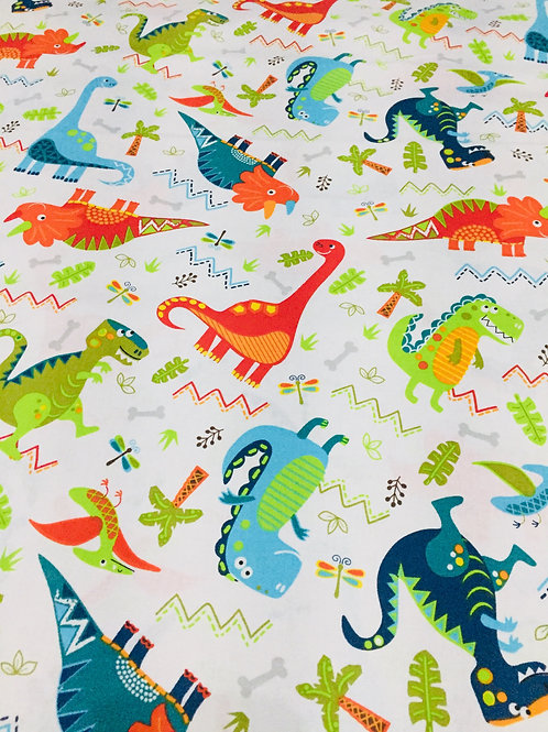 Dinosaur print 100% cotton fabric