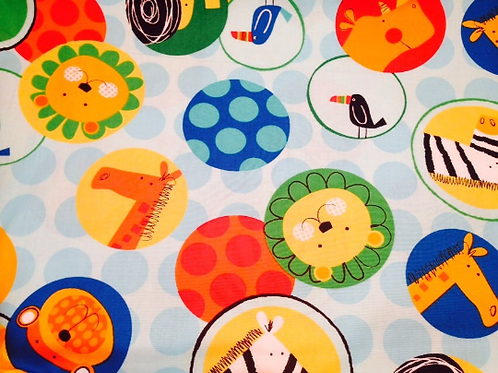 Cotton Fabric, Robert Kaufman Cotton Fabric, Jungle Cotton Fabric, 'Jungle Creat