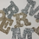 Thumbnail: Large Fabric Letters, Large Glitter Alphabet, Glitter Stick on Letters, Sparkly