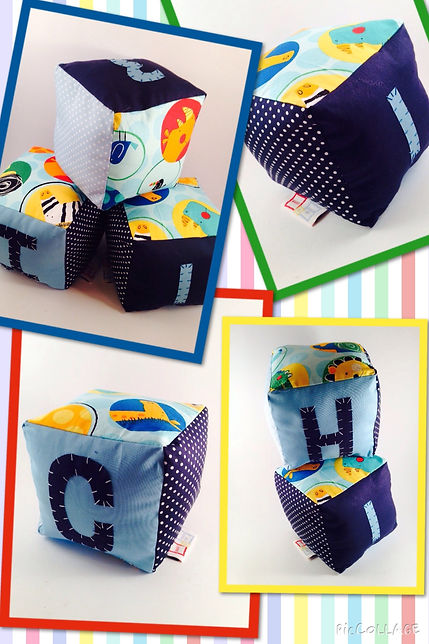 Handmade Fabric Play Blocks