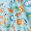 Thumbnail: Jungle Cotton Fabric, Turquoise Fabric, Animal Fabric, Nursery Cotton Fabric