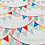 Thumbnail: Cotton Bunting Fabric, Pretty Bunting Fabric, Fabric with Flags, Nursery Cotton