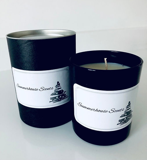 Black gloss candle