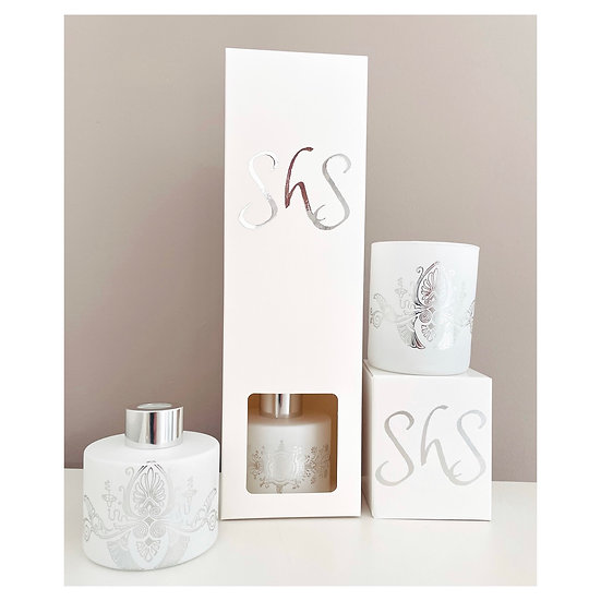 Silver Candle / Diffuser Gift  Set