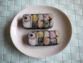 鯉のぼりとキャラクターの飾り巻き寿司(終了しました)