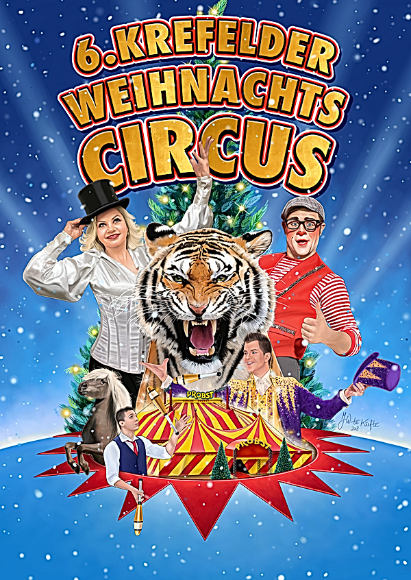Weihnachtscircus Krefeld, Plakat 2018