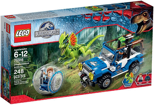 LEGO 75916 Jurassic World Dilophosaurus Ambush
