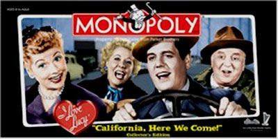 I Love Lucy Monopoly - California, Here We Come