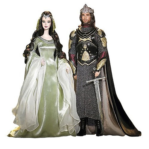 Barbie Lord of the Rings The Return of the King Arwen and Aragorn