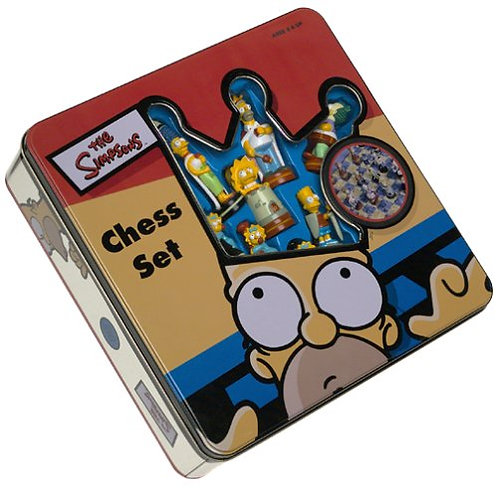 Simpsons Chess Set - Tin