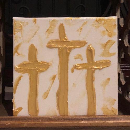 Cross Blessing Block- White