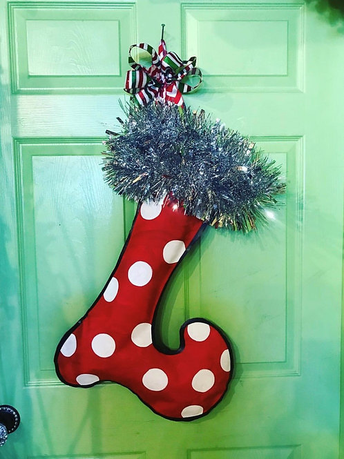 Red Stocking Door Hanger