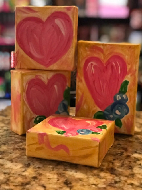 Heart Blessing Block with or with out flowers