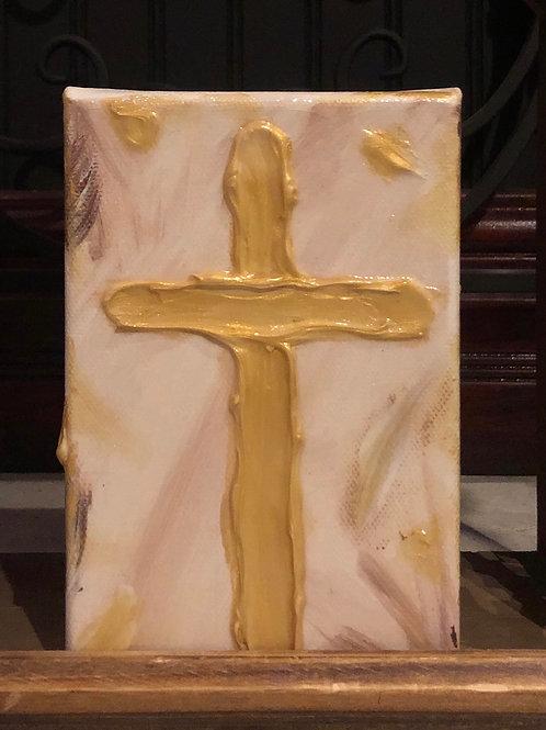 Cross Blessing Block-Tan