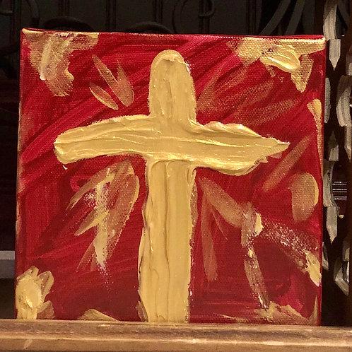 Cross Blessing Block- Red