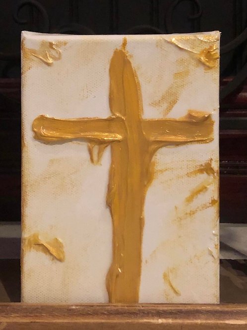 Cross Blessing Block- White