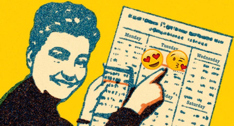 Woman holding a calendar