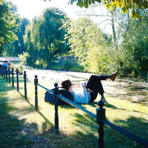 Londres, Clissold park, la lecture