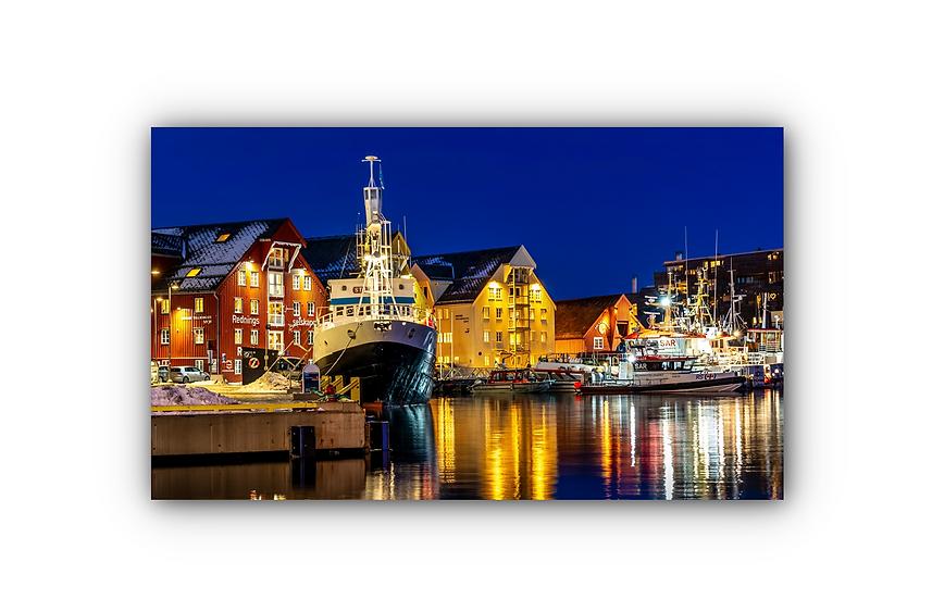 Tromso Port  IR Varmepanel Veggbilde Paneloven