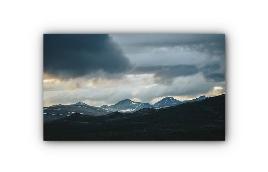 Rondane sunset Panorama IR Varmepanel Veggbilde