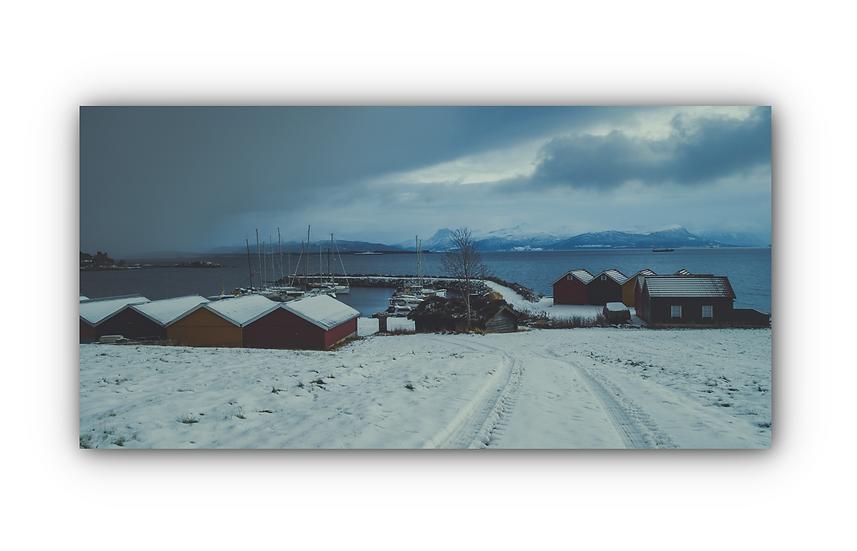 Utsikt over fjorden i Molde IR Varmepanel Veggbilde Panelovn