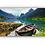 Thumbnail: Jolle i vannspeil av himmel i Olden i Stryn IR Varmepanel Veggbilde Panelovn