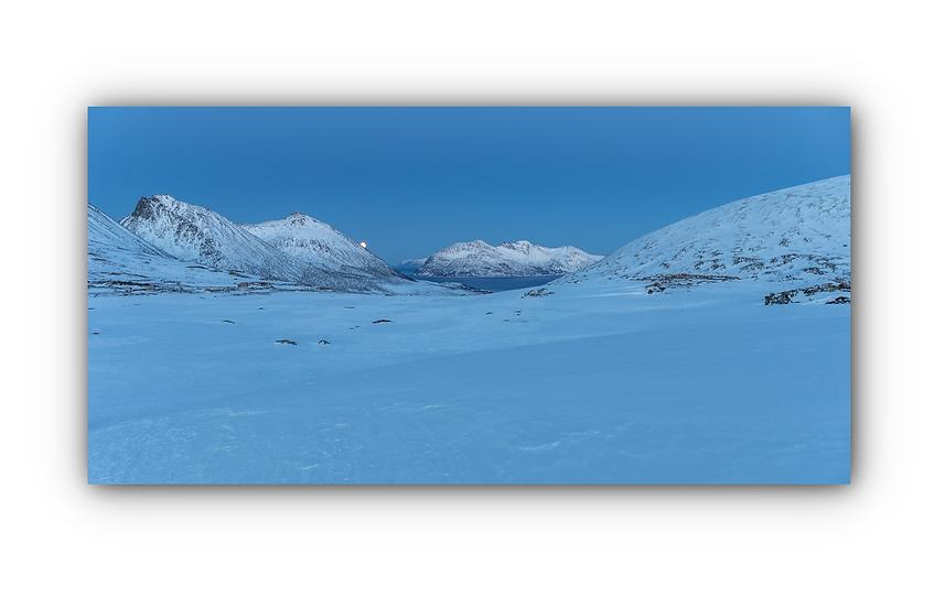 Norsk landskap om natten IR Varmepanel Veggbilde Paneloven