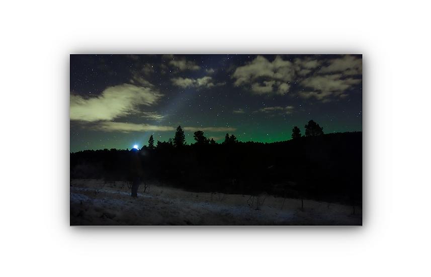 Stjernehimmel i Molde ved Mekvatnet IR Varmepanel Veggbilde Panelovn