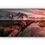 Thumbnail: Rød solnedgang speilet i vann med fjellandskap IR Varmepanel Veggbilde Panelovn