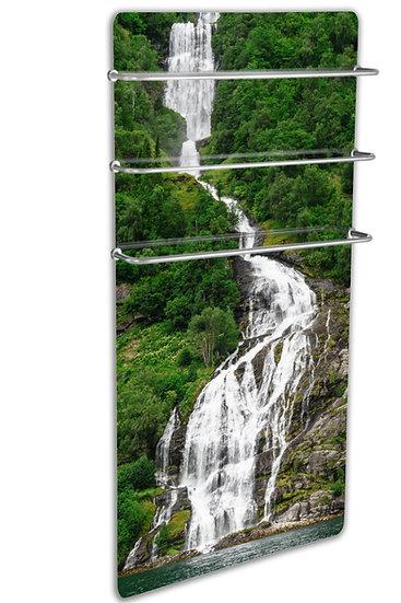 Infrarøde panelovn glass 500W oppvarmet håndkle stativ - Foss