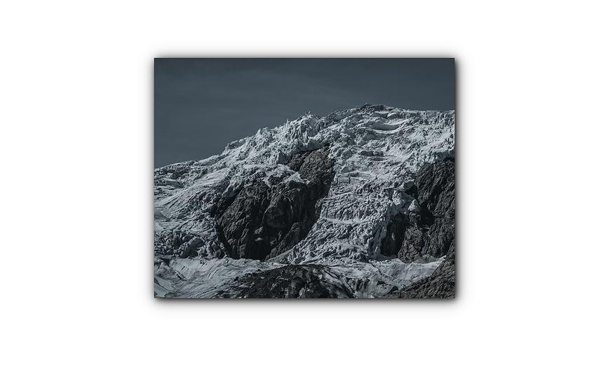 Norsk isbre med natthimmel IR Varmepanel Veggbilde Panelovn