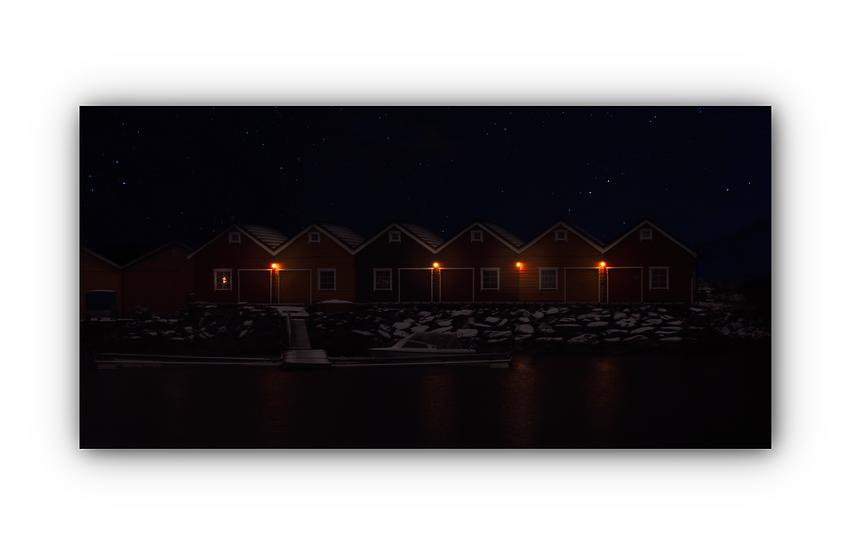 Stjernenatt og lanterner i Molde IR Varmepanel Veggbilde Panelovn