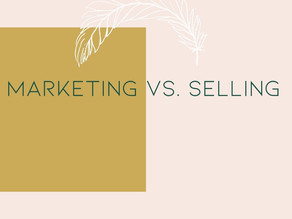 Are you marketing or selling?